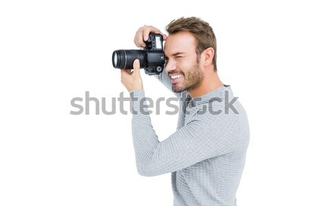Side view of photographer with photographic camera Stock photo © wavebreak_media