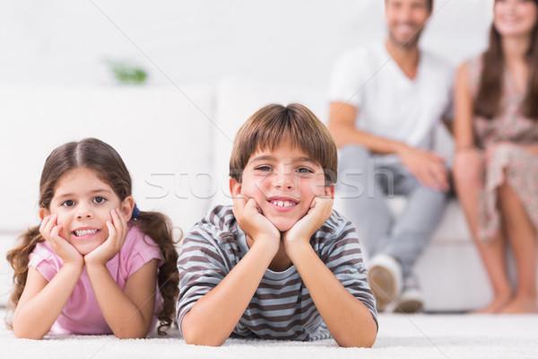 Smiling brother and sister Stock photo © wavebreak_media