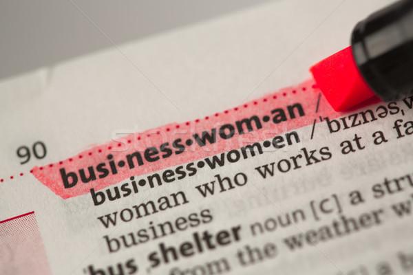 Imprenditrice definizione rosso dizionario donna informazioni Foto d'archivio © wavebreak_media