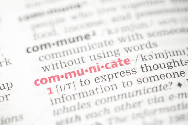 Communicate definition Stock photo © wavebreak_media