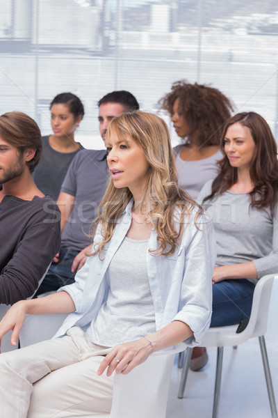 Patients listening in a therapy session Stock photo © wavebreak_media