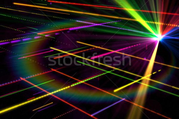 генерируется дискотеку лазерного Cool цветы Сток-фото © wavebreak_media