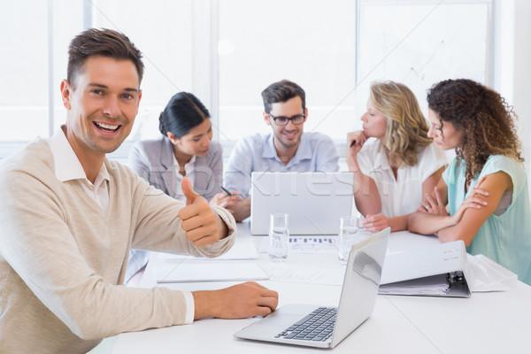 Casual equipo de negocios reunión hombre oficina Foto stock © wavebreak_media