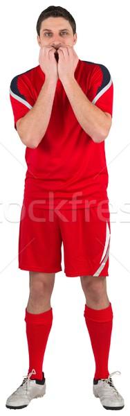 Nervös Fußballspieler schauen vor weiß Mann Stock foto © wavebreak_media