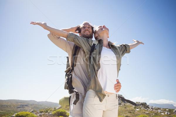 походов пару Постоянный горные местность мнение Сток-фото © wavebreak_media