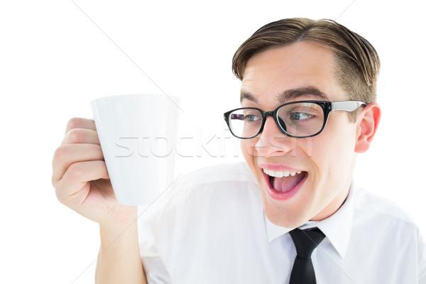 ビジネスマン マグ 白 コーヒー 茶 ストックフォト © wavebreak_media