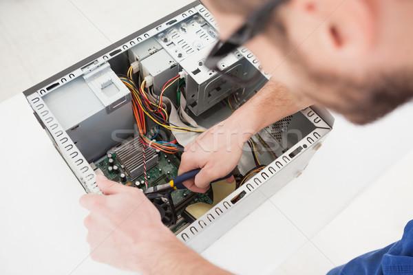 Komputera inżynier pracy podziale CPU biuro Zdjęcia stock © wavebreak_media