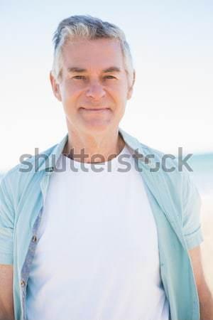Happy senior man looking at camera Stock photo © wavebreak_media