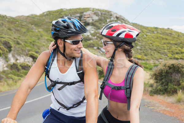 Athletic couple mountain biking Stock photo © wavebreak_media