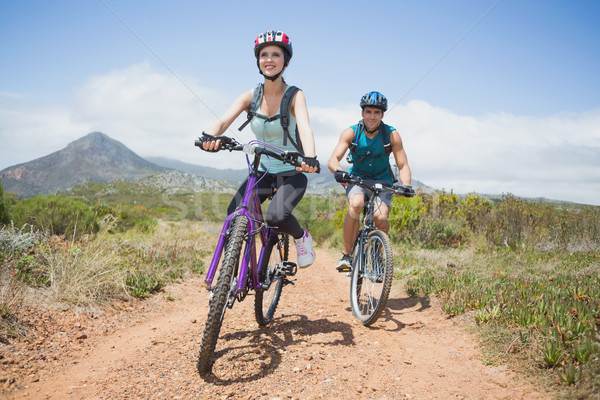 çift dağ bisikleti tam uzunlukta portre adam Stok fotoğraf © wavebreak_media