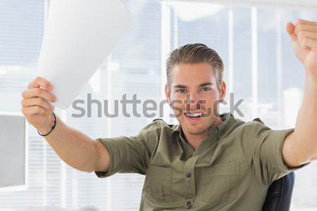 Screaming man with a pillow Stock photo © wavebreak_media