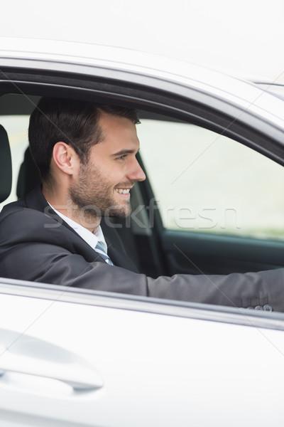 幸せ ビジネスマン 座席 車 ビジネス ウィンドウ ストックフォト © wavebreak_media