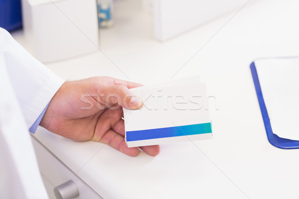 Gyógyszerész tart gyógyszer kórház gyógyszertár orvosi Stock fotó © wavebreak_media