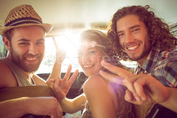 Hipster friends on road trip Stock photo © wavebreak_media
