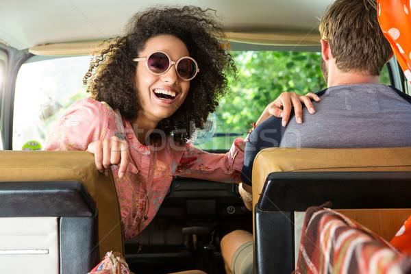 Hipster couple driving in camper van  Stock photo © wavebreak_media