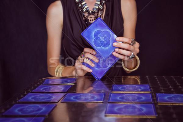 占い師 予測 将来 タロット カード 黒 ストックフォト © wavebreak_media