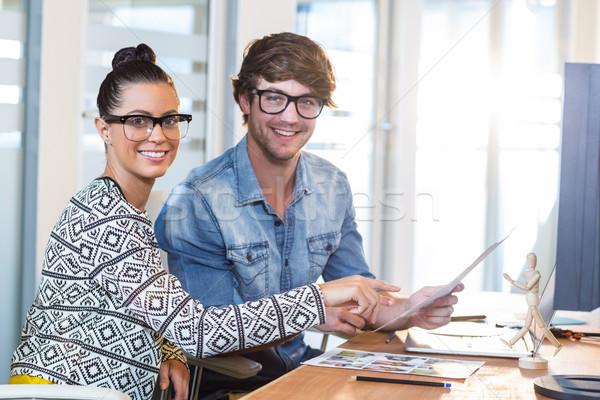 Profesyonel çalışma fotoğrafları ofis kadın adam Stok fotoğraf © wavebreak_media