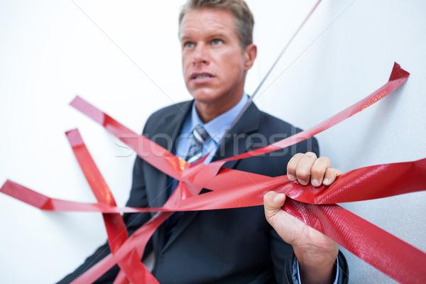 Imprenditore intrappolati burocrazia bianco business uomo Foto d'archivio © wavebreak_media