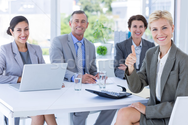 Interview paneel luisteren aanvrager kantoor business Stockfoto © wavebreak_media