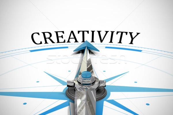 Yaratıcılık pusula kelime seyahat yaratıcı metin Stok fotoğraf © wavebreak_media
