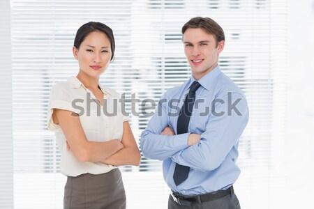 Businessman talking with co worker Stock photo © wavebreak_media