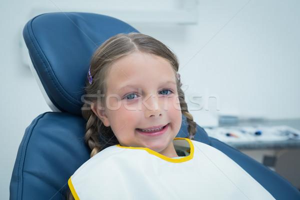 Sorridere ragazza attesa dental esame ritratto Foto d'archivio © wavebreak_media