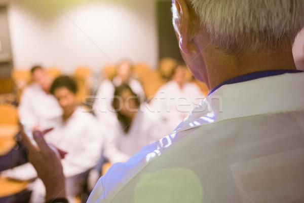 Nauki profesor wykład klasy uczelni komputera Zdjęcia stock © wavebreak_media