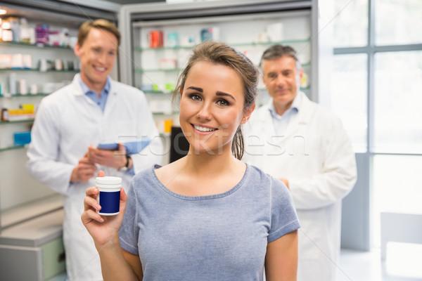 Felice cliente medicina ospedale farmacia Foto d'archivio © wavebreak_media