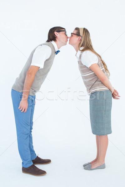 çift öpüşme beyaz adam saç Stok fotoğraf © wavebreak_media