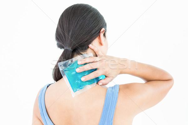 Belo morena gel empacotar pescoço branco Foto stock © wavebreak_media