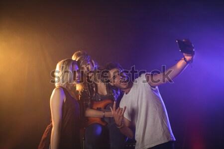 Entusiasta ventilador quadro feminino música Foto stock © wavebreak_media