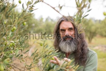 Thoughtful man standing in olive field Stock photo © wavebreak_media