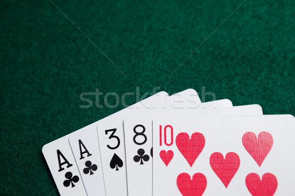 игральных карт покер таблице казино красный успех Сток-фото © wavebreak_media