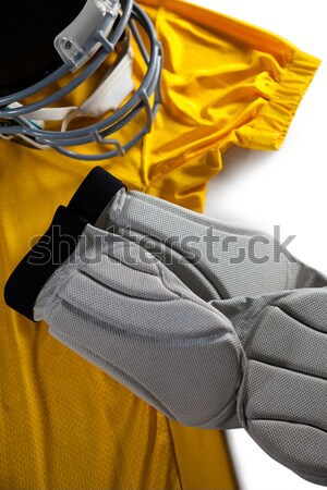 Rechtstreeks boven shot sport helm witte Stockfoto © wavebreak_media