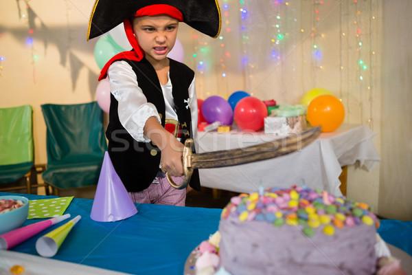Ragazzo pirata festa di compleanno home casa amore Foto d'archivio © wavebreak_media