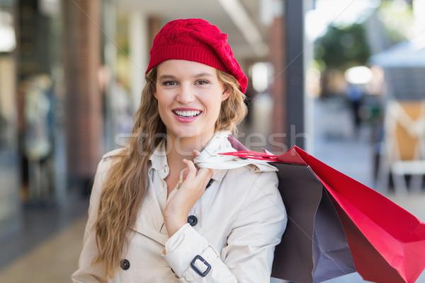 Gülümseyen kadın alışveriş merkezi kadın mutlu moda Stok fotoğraf © wavebreak_media