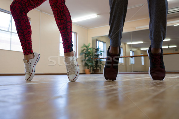 Low section of woman with friend practicing dance Stock photo © wavebreak_media