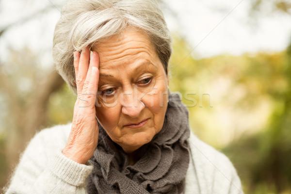 Senior woman in the park Stock photo © wavebreak_media