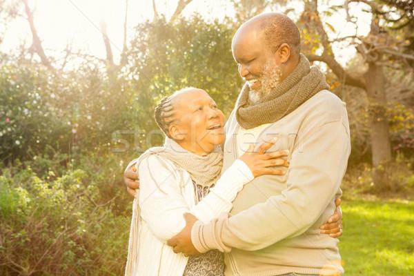 Happy peaceful senior couple embracing Stock photo © wavebreak_media