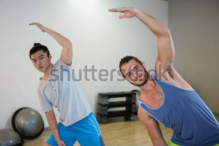 Zdjęcia stock: Instruktor · student · wojownika · stanowią · jogi