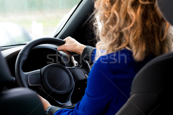 Stock photo: Close up of customer driving in car