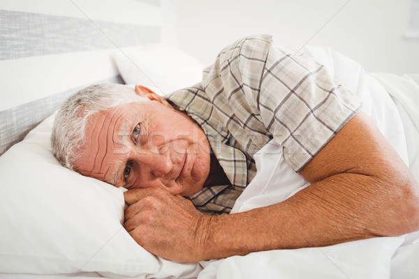 Doente senior homem cama quarto casa Foto stock © wavebreak_media