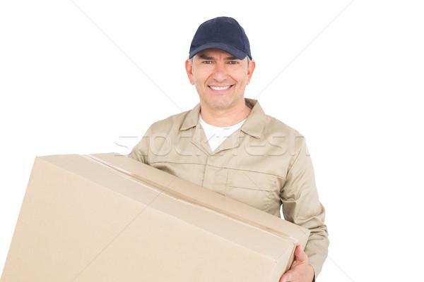 Livraison de colis homme paquet blanche Photo stock © wavebreak_media