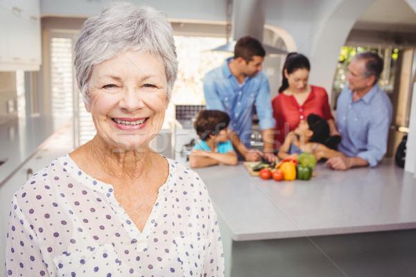 Senior vrouw familie portret Stockfoto © wavebreak_media