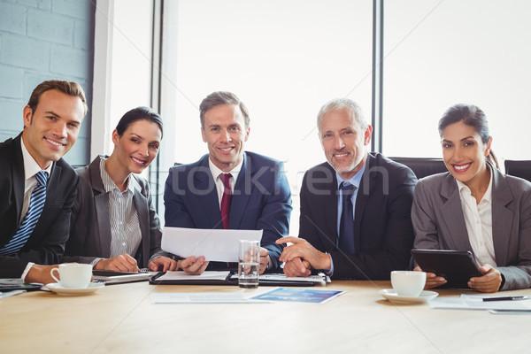 Sala conferenze ritratto business riunione imprenditore Foto d'archivio © wavebreak_media