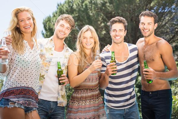 Grup arkadaş bira gülen mutlu moda Stok fotoğraf © wavebreak_media