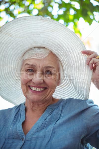 Portrait of senior woman wearing hat Stock photo © wavebreak_media