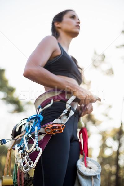 Close up of climbing equipment on a woman  Stock photo © wavebreak_media