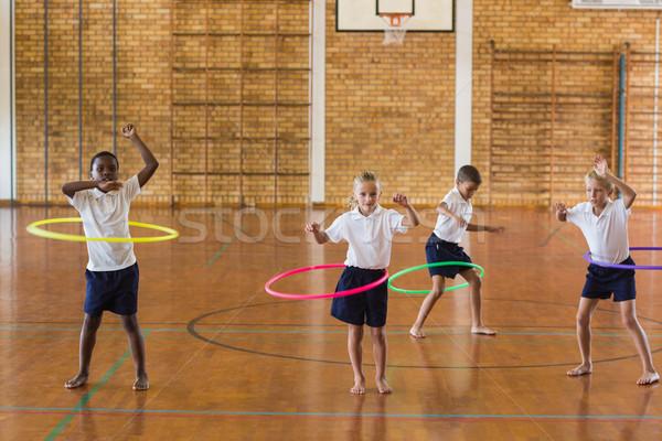 студентов играет школы спортзал Сток-фото © wavebreak_media