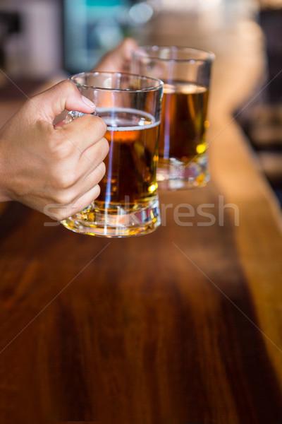 рук пива ресторан женщину рабочих Сток-фото © wavebreak_media
